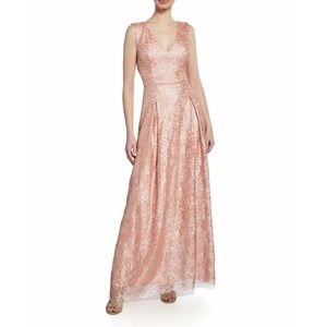 Karl Lagerfeld sequin embelished pink gown dress